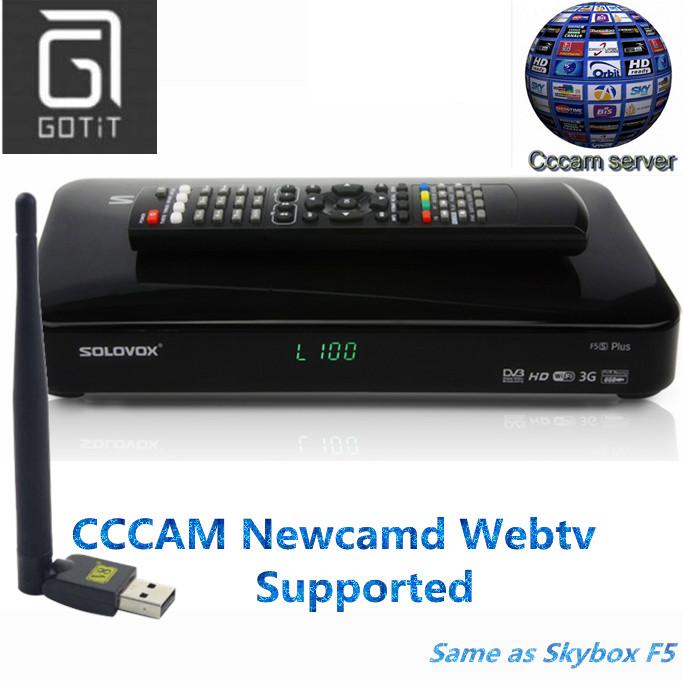 Prix pour Solovox f5s satellite récepteur de dvb-s2 récepteur satellite décodeur cccam newcam youtube webtv soutenu set top box