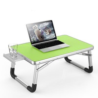 Laptop Desk Bed Small Table Lazy Table Student Study Desk Folding with Drawer Anti slip Cup Slot Computer Desks Office Furniture