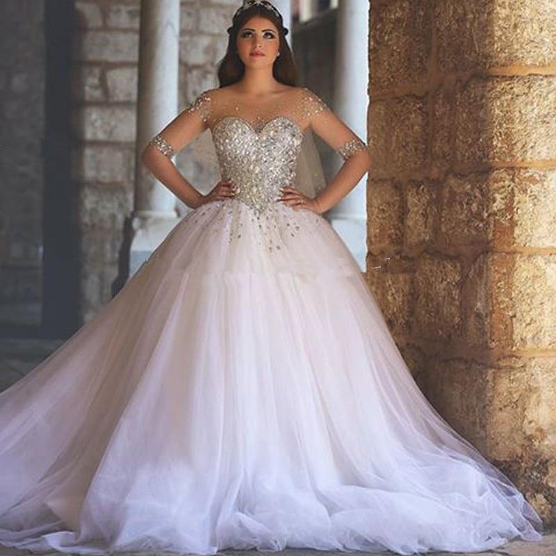 Bling Bling Ball Gown Big Wedding Dress Dubai Middle East Fashion ...