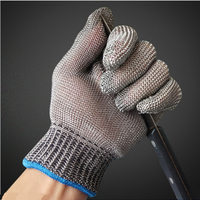 Safety Cut Proof Stab Resistant Work Gloves Stainless Steel Wire Safety Gloves Cut Metal Mesh Butcher