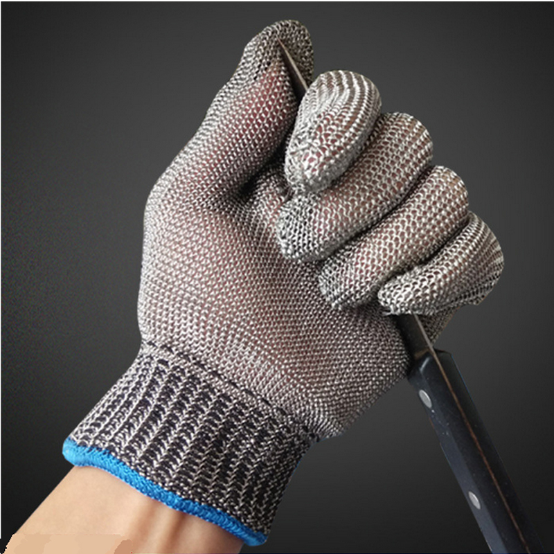 Safety Cut Proof Stab Resistant Work Gloves Stainless Steel Wire Safety Gloves Cut Metal Mesh Butcher Anti-cutting Work Gloves top quality 304l stainless steel mesh knife cut resistant chain mail protective glove for kitchen butcher working safety