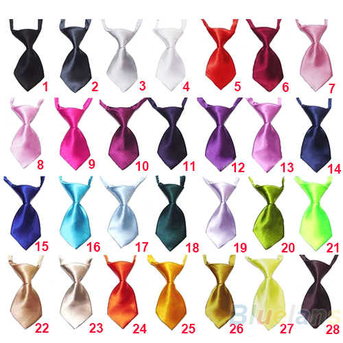 Transer Adjustable Dog Cat Pet Cloth Adorable Grooming Tie Necktie 28 Pure Colors Grooming Bow Tie