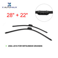 X AUTOHAUX 28 + 22 Exact Fit Windshield Windscreen Auto Wiper Blades Cover For MITSUBISHI GRANDIS 2004 TO 2010 Car ACCESSORIES
