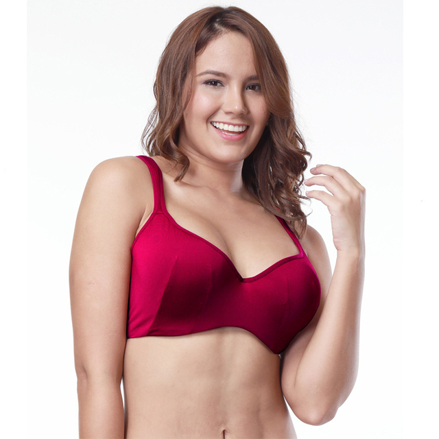 c59cba8c21a CINOON Full Coverage Cotton bra Big Size brassier Red bralette Push Up Bra  lingerie seamless Comfortable