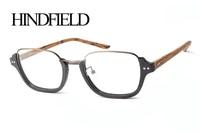 Cute Style Imitation Wood Optical Frames Glasses Frames Counter Design Metal Wood Myopia Glasses Frame Men