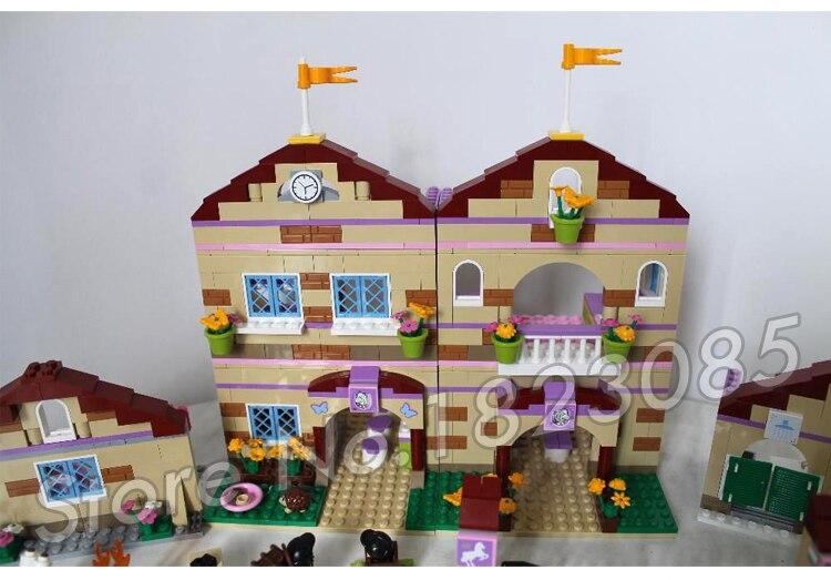1118 шт. друзья Heartlake летний лагерь для верховой езды 10170 лошади Чемпион Солнце фигура Строительные блоки игрушки совместимы с LegoING - 4