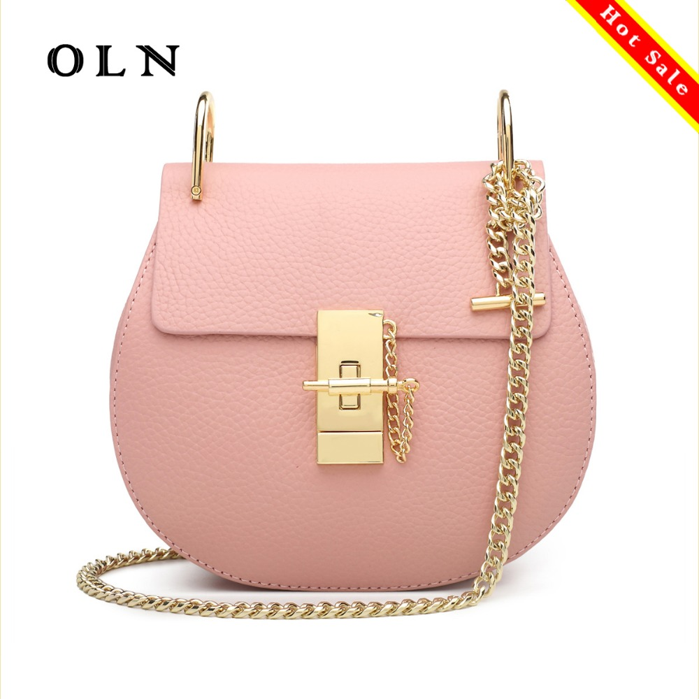 OLN 2018 luxury brand hot sale woman bag genuine leather circular bags handbags women famous brands shoulder bag chains hot zooler woman bag genuine leather bag hot designer bags handbags women famous brands shoulder chains bolsa feminina 1686