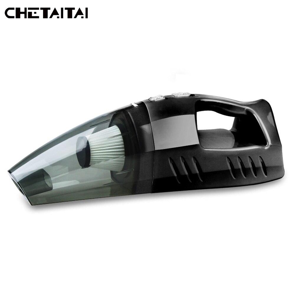 Chetaitai Aspirateur De Voiture 12 V 100 W L'inflation Test Pneu Pression HEPA Filtre LED Lumière Éclairage Multi Collecteur de Poussière