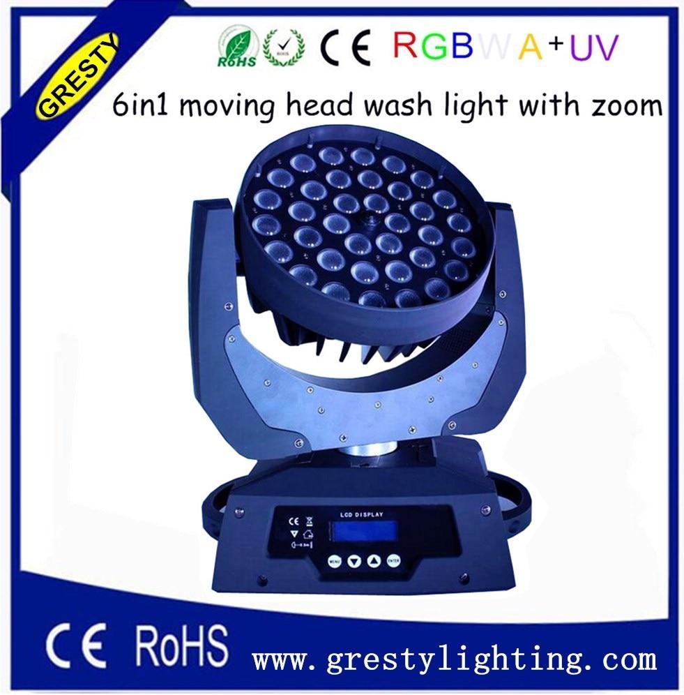ilmainen toimitus 36kpl 10W RGBW 4 in 1 -pesu liikkuva pään led-valo / 6 in1 liikkuva päänvalo 18w rgbwa uv