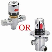 Бесплатная доставка медь термостатический смешать клапан регулировки смешивания температура воды термостат для AF000