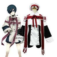 Anime Black Butler Kuroshitsuji Ciel Phantomhive Chor Uniform Cosplay Partei Kostüm Kirche Kleid Full Set
