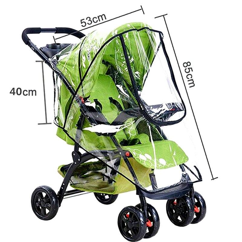 Waterdichte regenhoes voor kinderwagen accessoires Transparante Winddicht regenjas voor baby winkelwagen Rits opent Kinderwagens