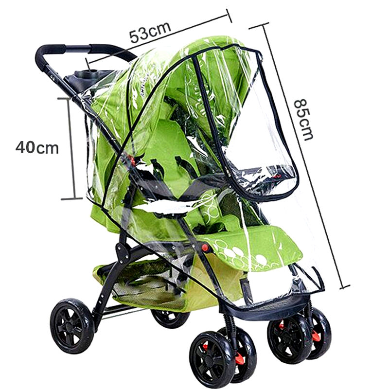 Waterproof Rain Cover For Baby Stroller Accessories Transparent Windproof Raincoat For Baby Cart Zipper Opens Baby Carriages