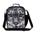Dispalang Brand New Lunch Bags Square Designer Tiger Head 3D Printing Kids Lunch Box Students Thermal Food Bags Christmas Gifts