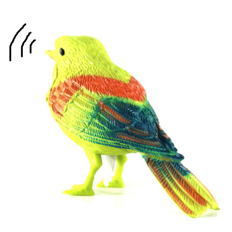 2pcs Plastic Realistic Voice Control Sounds Singing Chirping Bird Child Toy qwe