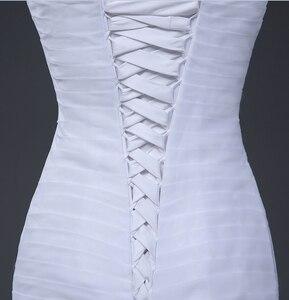 Image 5 - NOBLE WEISSในสต็อกSweetheartจีบOrganzaทรัมเป็ตMermaid Lace Up Backงานแต่งงานชุดเจ้าสาวจัดส่งฟรี0921