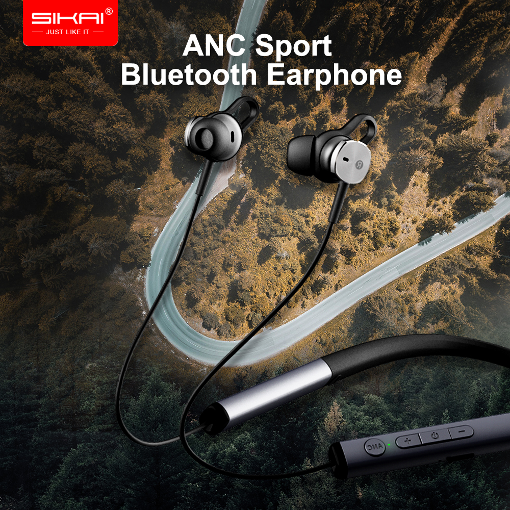 Waterproof IPX5 Earphone ANC Stereo V4.2 Bluetooth Wireless Connection with Mic In-Ear style Sport Headset for iPhone XiaomiWaterproof IPX5 Earphone ANC Stereo V4.2 Bluetooth Wireless Connection with Mic In-Ear style Sport Headset for iPhone Xiaomi