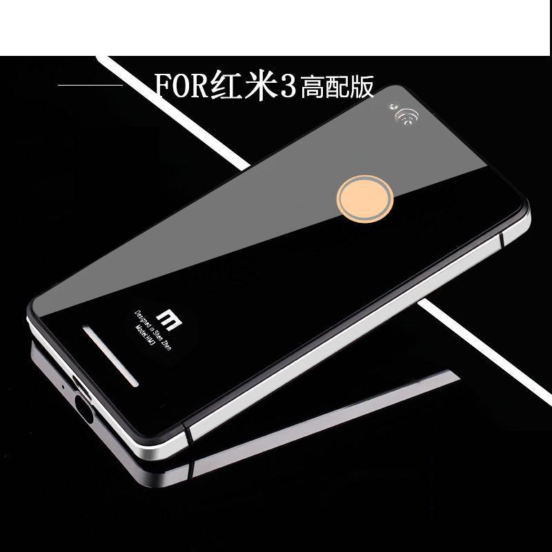 For Xiaomi <font><b>Redmi</b></font> 3 <font><b>Redmi</b></font> <font><b>3s</b></font> Phone Case, Luxury Aluminum Metal Frame & Tempered Glass <font><b>battery</b></font> back <font><b>cover</b></font> for Xiaomi <font><b>Redmi</b></font> 3/<font><b>3s</b></font> image