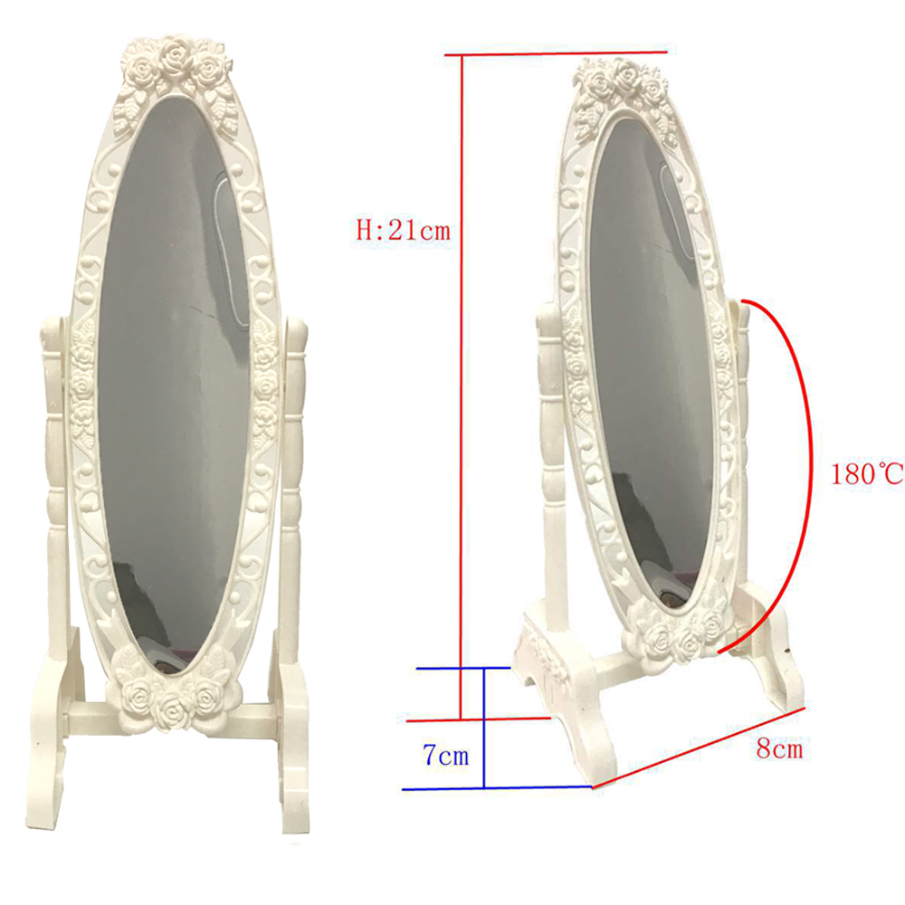 NK 1 Pcs Doll Make Up White Mirror Fashion Doll Mirror Mini Play Rotatable Party Furniture For Barbie Doll DIY Accessories 11 DZ