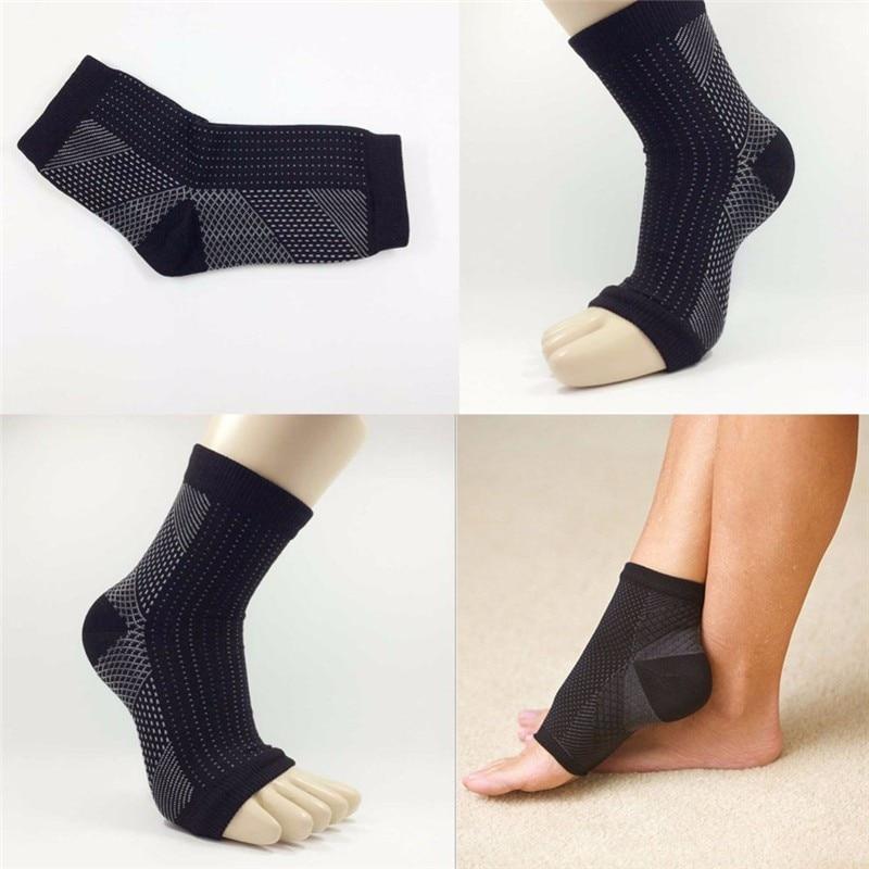 HTB1JNplXKuSBuNjy1Xcq6AYjFXaM - 1 Pair Ankle Heels Support Socks Women Men Compression Socks