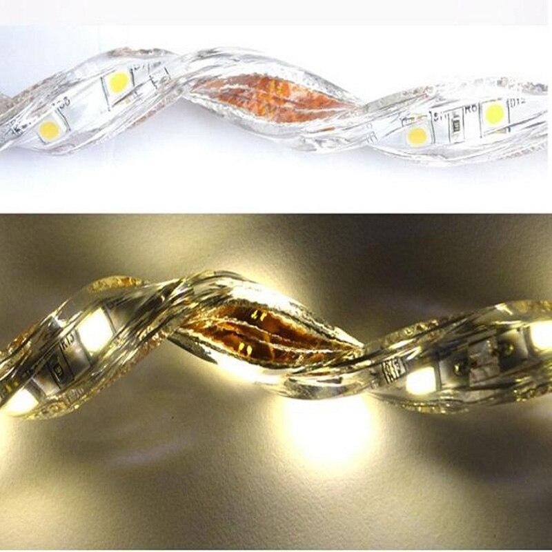 Распродажа 10 м 110 В/220 В Высокое напряжение SMD 5050 RGB Светодиодная лента Водонепроницаемая + ИК пульт дистанционного управления + источник питания - 5