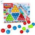Новый 3D DIY Бисера Мяч Головоломка Делая Различные Формы Развивающие Игрушки Многоцветный Волшебный Бисер Xmas Подарок На День Рождения