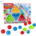 New 3D DIY Bead Ball Puzzle Making Different Shapes Educational Toy Multicolour Magical Beads Xmas Birthday Gift