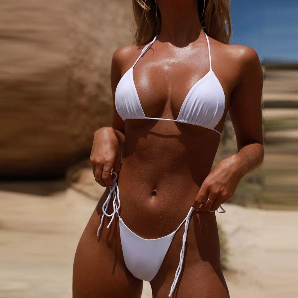 HTB1JNqAacnrK1RjSspkq6yuvXXaP Women Sexy Bikinis Bandeau Bandage Bikini Set Push-Up Brazilian Swimwear Beachwear Swimsuit 2019 Mujer Solid Maillot De Bain#15