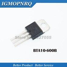10pcs BTA10-600B TO-220 BTA10-600 TO220 BTA10 10A TRIACS new and original free shipping 50pcs bt137 600e bt137 600 bt137 triacs logic level 600v 8a