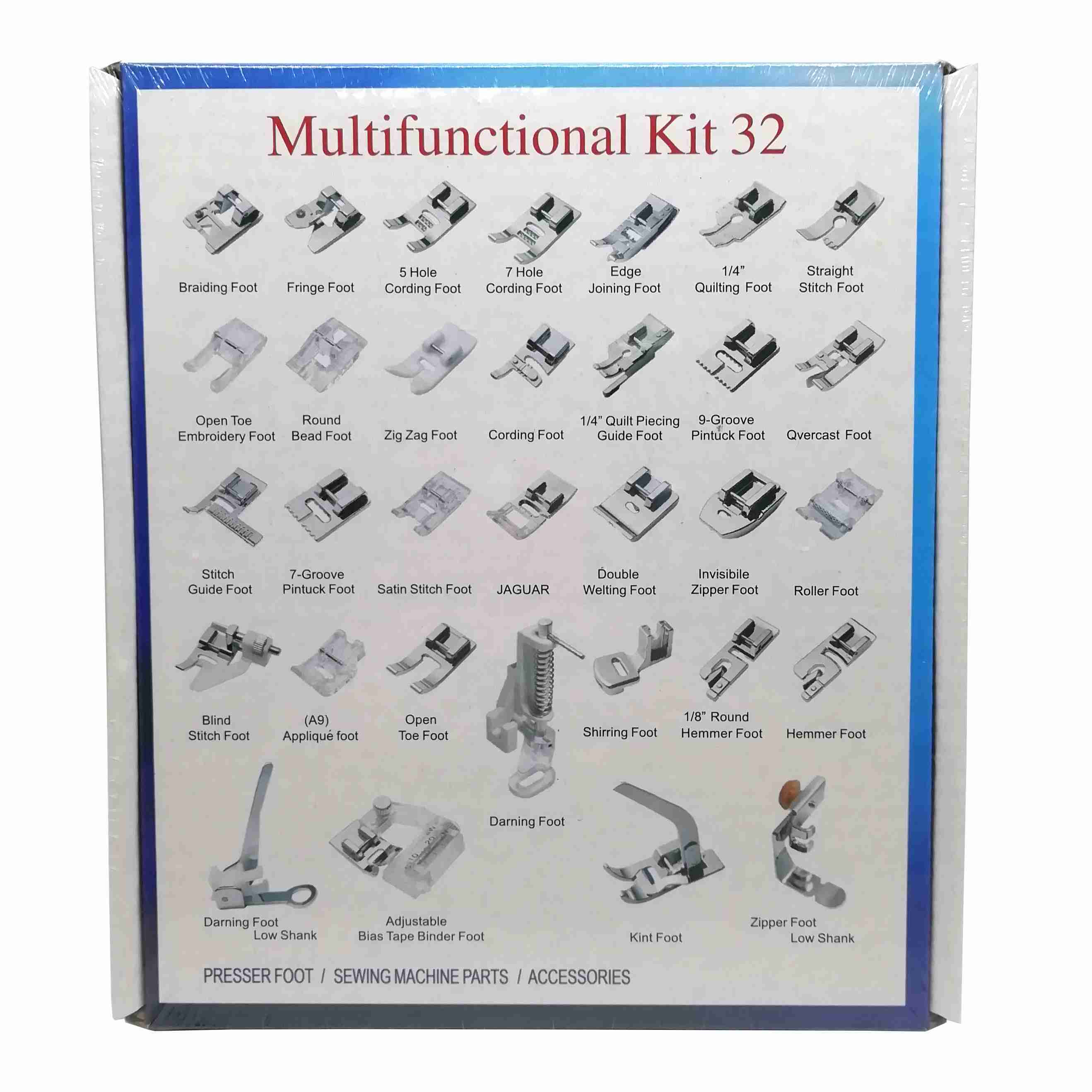 Image 3 - 32/42/48/52 Pcs Sewing knitting crochet Domestic Machine Blind Stitch Darning Presser Foot Feet Kit Set For Brother Singer Janom-in Sewing Tools & Accessory from Home & Garden