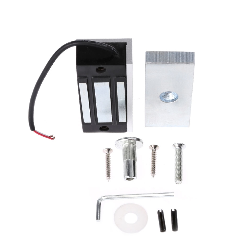 12V Mini Electronic Drawer Lock Electric Magnetic Cabinet Door Locks 60kg 130lbs #Aug.26 320kg 2 double door 12v electronic door magnetic locks electric lock