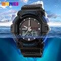 Tamanho grande Homens Relógio Solar LED Relógios 3-ponteiros Analógicos Sports Digital relógio de Pulso Estudantes 30 M Water Resistant Rubber Relojes NW7083