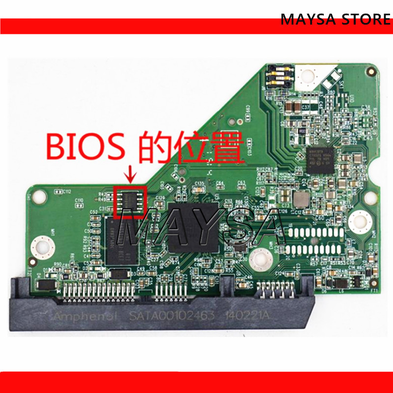 HDD PCB 2060-771829-005 REV P1 , 2060-771829-005 REV A , 2060 771829 005 , 771829-305 / WD5000AZLX ,WD10EZEX