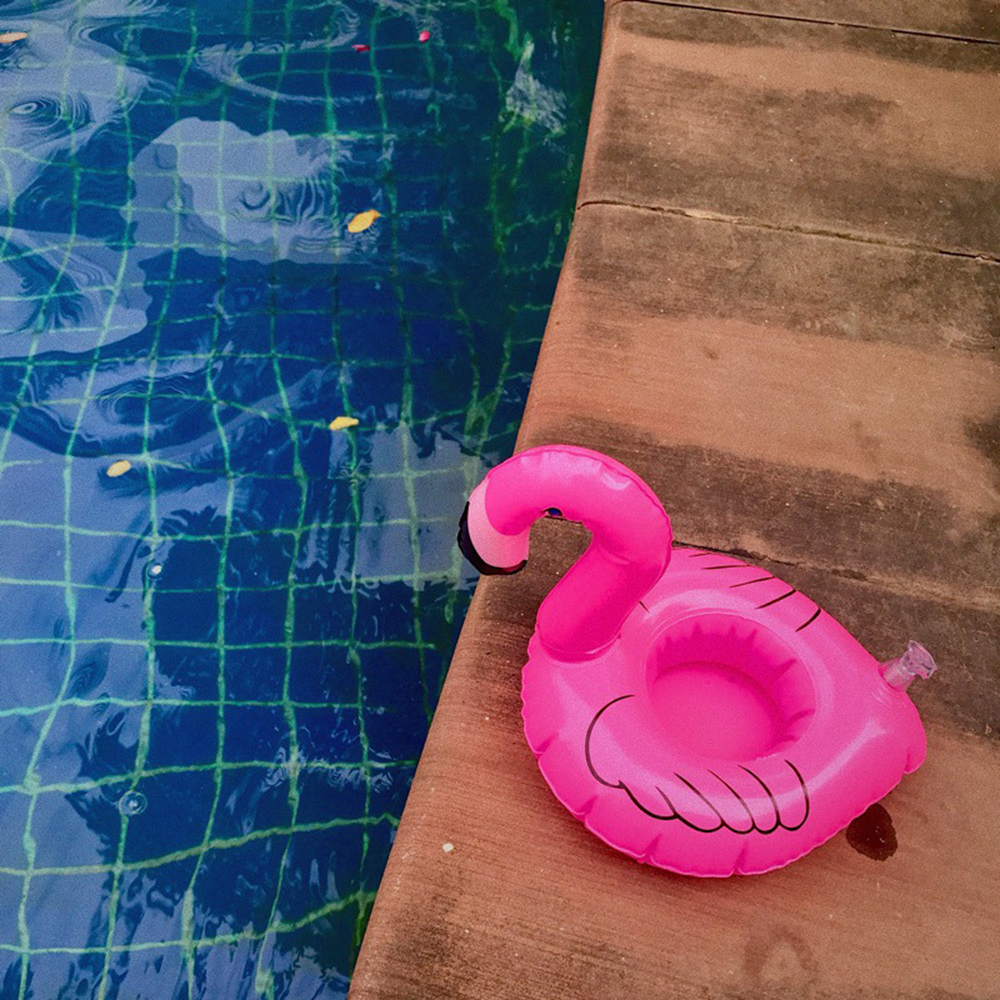 Mini Flamingo Floating Inflatable Drink Can Cell Phone Holder Stand Pool Toys Cup Holder Base Event & Party Supplies