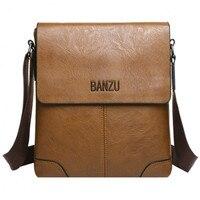 Men Solid Color Shoulder Messenger Cross-body Business Bag Men Tote Bags Fashion Man Leather Messenger Bag