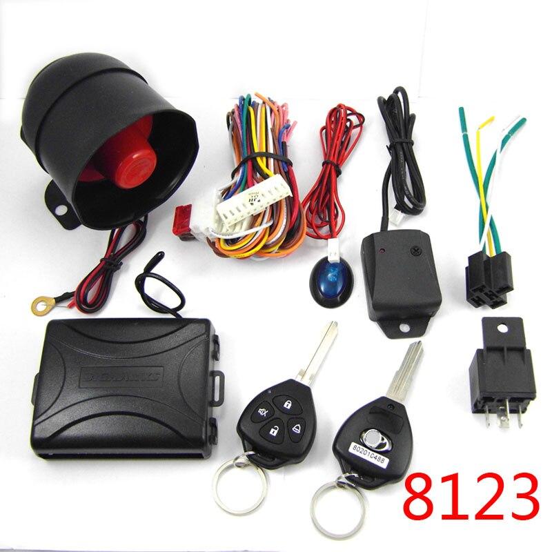Une façon alarme de voiture système BIUYEE 8123 pour voitures Japnese #2 blanc clé Universelle Siren Auto de Sécurité Sans Clé D'entrée anti -détournement