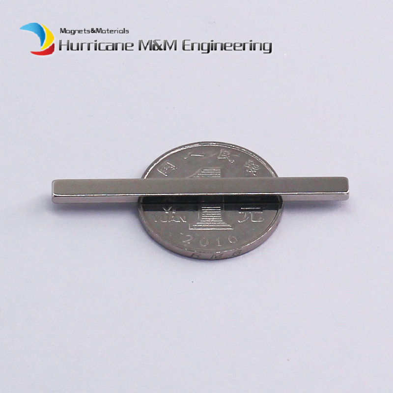 1 Pack NdFeB Block 50x4x2 (+/-0.1)mm Tool Holding Magnet Bar Strong Neodymium Permanent Magnets Rare Earth Lifting Magnets N42 2pcs d22 200mm 10000 gauss strong neodymium magnet bar iron material removal