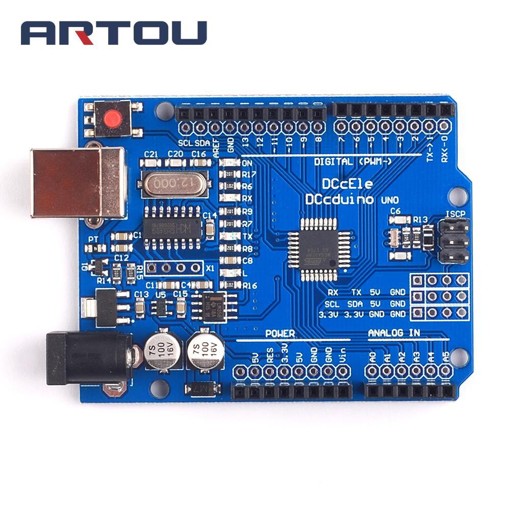 UNO R3 MEGA328P CH340 CH340G Développement Conseil CH340G + MEGA328P Compatible pour UNO R3 PAS USB CÂBLE