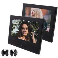 EinCar Car Headrest DVD Player 8'' Portable Video Monitor Car Entertainment System IR FM Transmitter Game Controller+Headphones