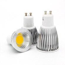 COB Светодиодный прожектор с регулируемой яркостью 9 Вт 12 Вт 15 Вт E27 E14 GU10 85-265 в MR16 12 В лампочка теплый белый холодный белый лампада Светодиодная лампа