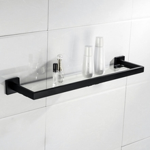Velimax Bathroom Gl Shelf Wall Mounted Floating With Stainless Steel Frame Modern Shelves For