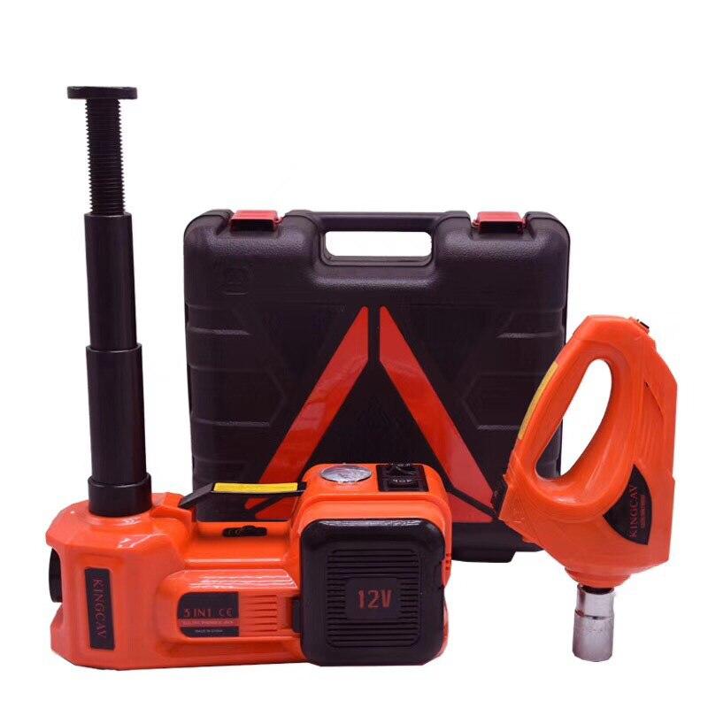 Actualizado 5Ton elevación 45 cm 3in1 gato eléctrico del coche bomba de aire del coche llave eléctrica Auto de múltiples funciones de mantenimiento herramientas