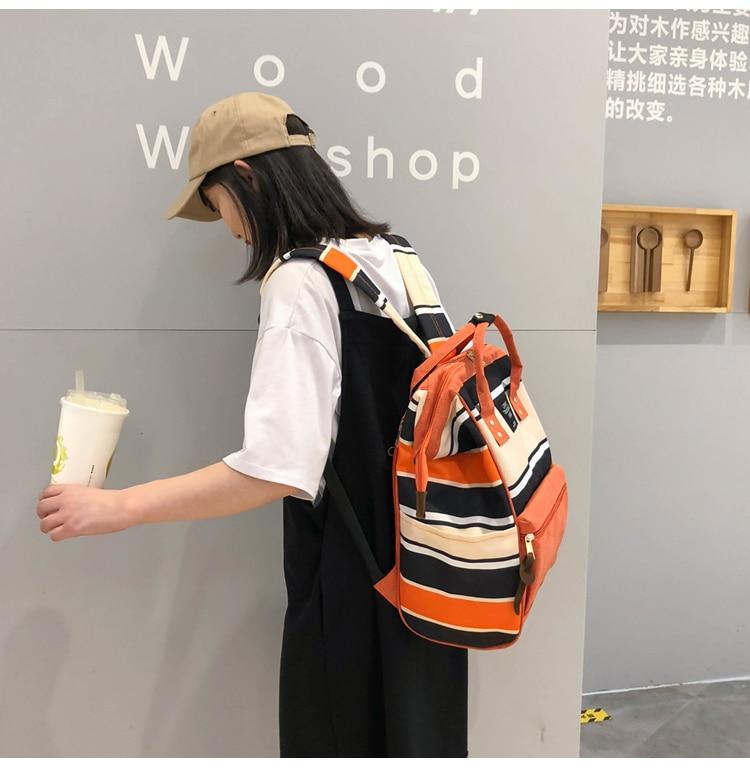 HTB1JNr9UmzqK1RjSZFHq6z3CpXaY 2019 Korean Style Women Backpack Canvas Travel Bag Mini Shoulder Bag For Teenage Girl School Bag Bagpack Rucksack Knapsack