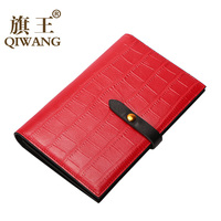 QIWANG Real Genuine Cow Leather Women Passport Holder Card Wallets European Passport Cover Purse Credit ID