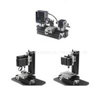 Metal Mini Multipurpose 3 in 1 Lathe Machine with 12000r/min Powerful 60W Motor DIY Tools Lathe/Milling/Drilling Machine