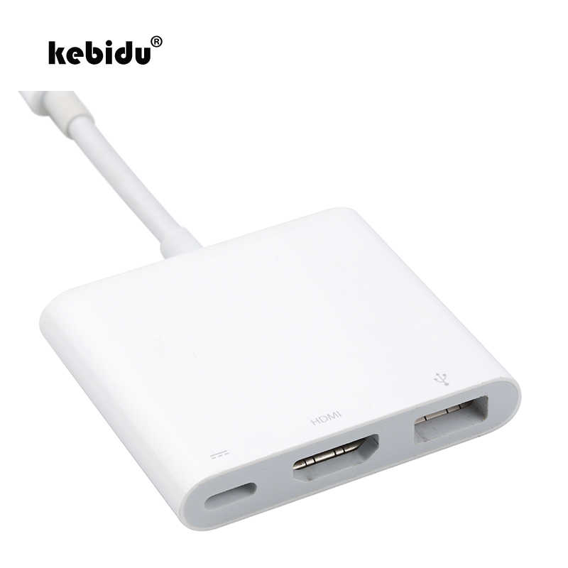 Kebidu USB 3,1 tipo C a HDMI USB 3,0 HUB USB-C adaptador multi-Puerto Dongle Dock Cable para nuevo Macbook Pro blanco al por mayor