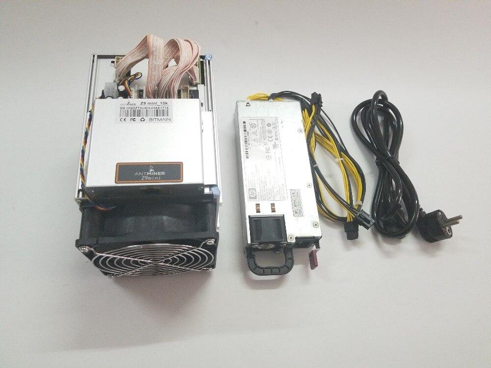 Enviar en 24 horas más ZEN ZEC BTG minero Antminer Z9 Mini 10 k Sol/s 300 W Equihash con 750 W PSU económico que Innosilicon A9