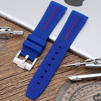 20mm Men Silicone Watch Strap For Daytona Water Ghost Strap Accessories Male Sport Watch Band For Rolex Silicone Strap.
