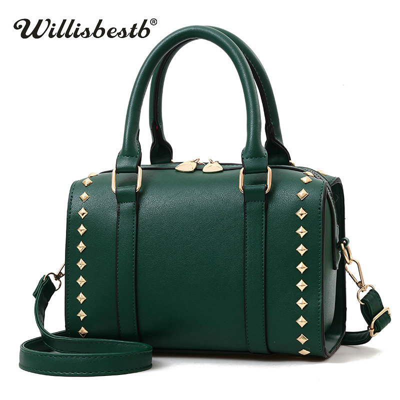 Fashion New Women Handbag Luxury Rivet Brand Messenger Female Bag Clutch Leather Lady Crossbody Bag Woman Shoulder Bags Feminina genuine new palmrest cover upper case with touchpad us korean keyboard gray for samsung laptop np530u4b np530u4c np535u4c
