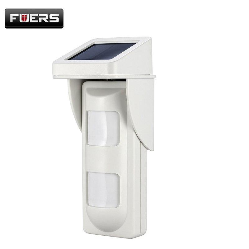 PIR100D 433mhz Intelligent Waterproof Outdoor Wireless Solar PIR Motion Detector Anti pet 10kg For Home Security Alarm System